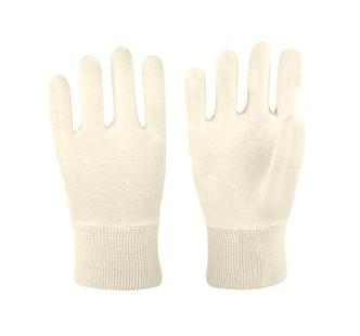 100% cotton grey  interlock liner glove
