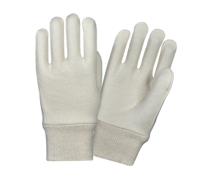 Jersey Gloves With Knitted Wrist