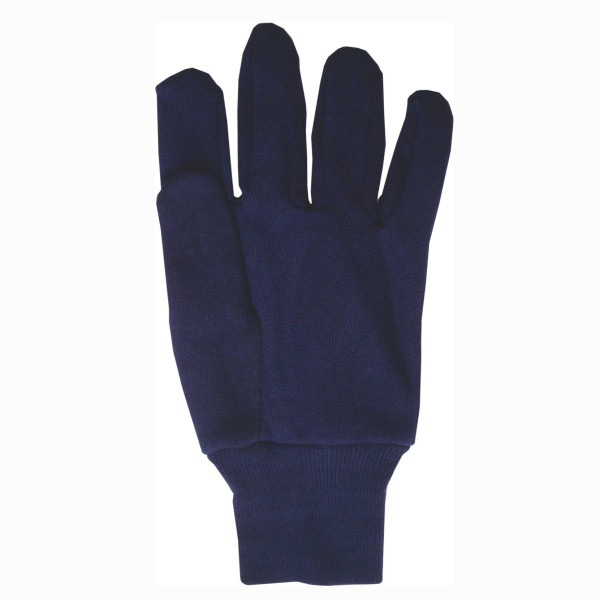 Cotton Jersey Blue Gloves