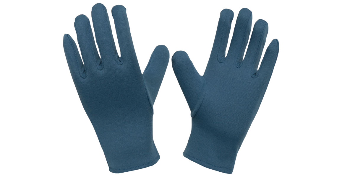 Cotton Blue Dyed Gloves