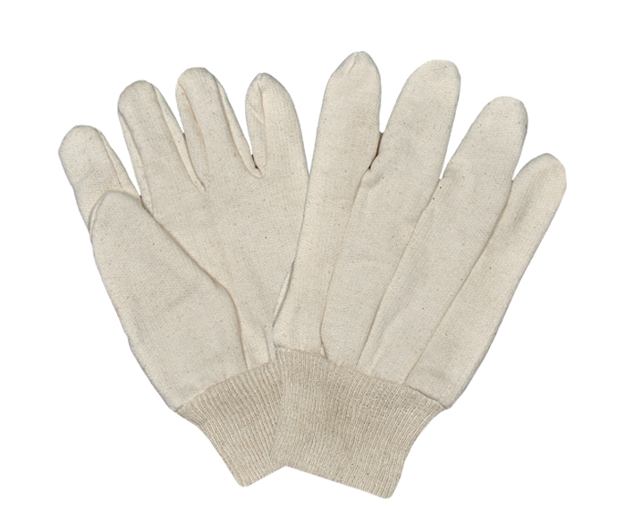 Jersey Grey Gloves with Knitted wrist Straight Win