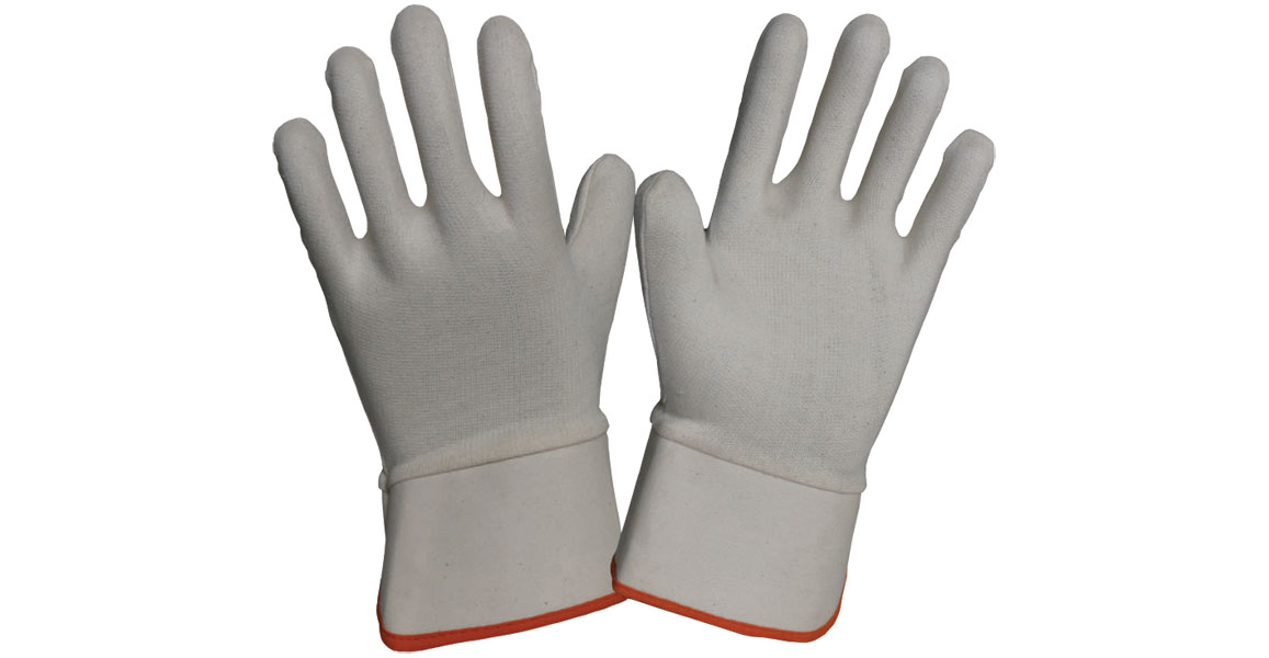 ​Cotton Interlock Dipping Liner Gloves with Cuff
