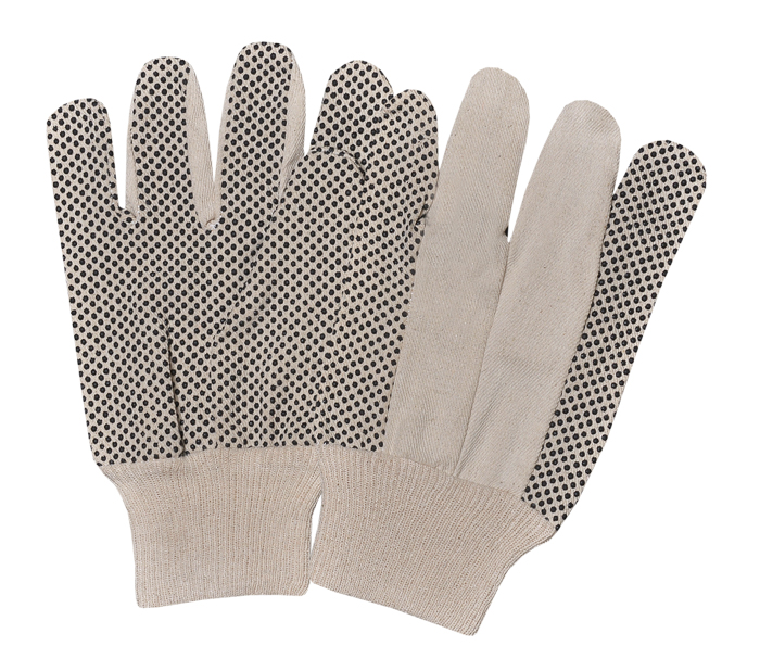 Drill Pvc Dotted Gloves With K/W Straight & Wing T