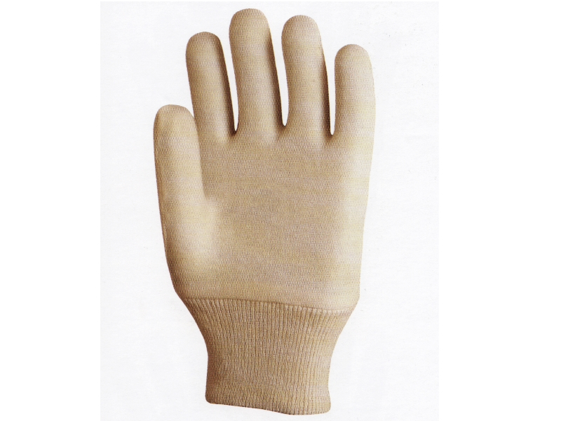 Cotton Interlock Liners Gloves With elastic wrist
